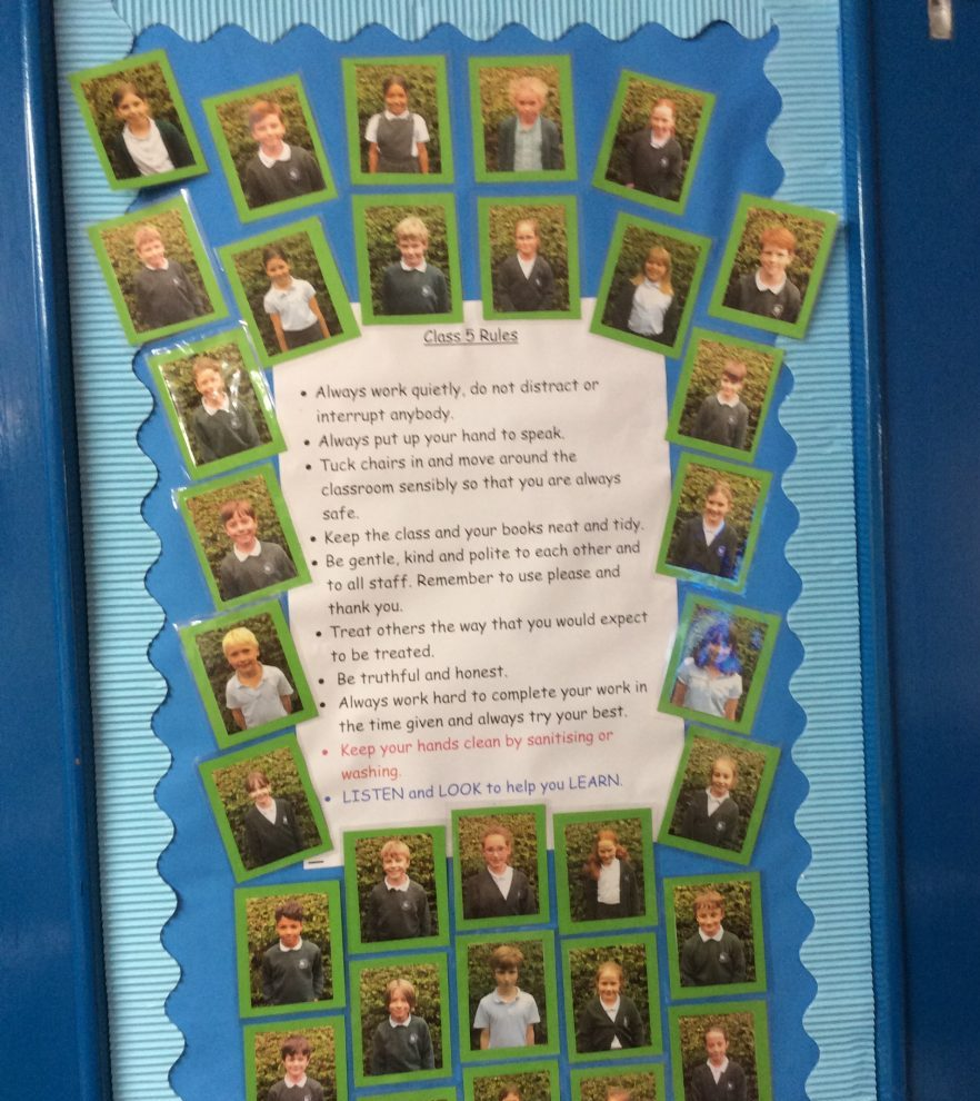 We spent time agreeing our class rules. If we all follow these rules we are sure to have a happy year in year 5.